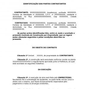Contrato de Prestação de Serviços de Construção por Empreitada