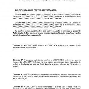 Contrato de Autorização de Imagem
